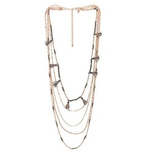 Rebecca Minkoff | Rose Gold Layer Tassel Necklace